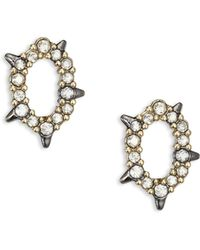 Alexis Bittar - Spiked Crystal Stud Earrings - Lyst