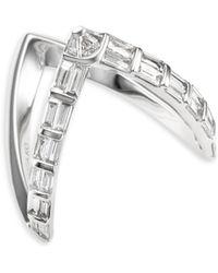 Anita Ko - 18k Baguette Diamond V-ring - Lyst