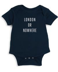 Knowlita - Baby's London Or Nowhere Cotton Bodysuit - Lyst