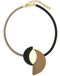Lafayette 148 New York - Half Moon Reversible Statement Necklace - Lyst