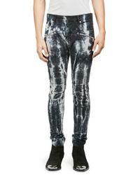Balmain - Tie-dye Ribbed Skinny Jeans - Lyst