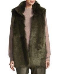 L.K.Bennett - Long Fur Vest - Lyst