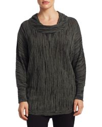 NIC+ZOE - Plus Knitted Cowl Neck Top - Lyst