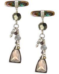 Chan Luu - Abalone Mix Stone Earrings - Lyst
