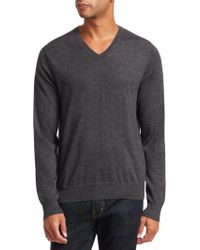 Saks Fifth Avenue - Collection V-neck Lightweight Cashmere Sweater - Lyst