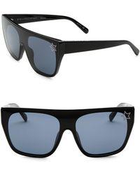 817a482263 Stella McCartney - Women s Monochrome Square Sunglasses - Black - Lyst