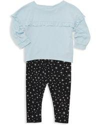 Splendid - Baby Girl's 2-piece Ruffled Top & Star-print Leggings Set - Ballad Blue - Lyst