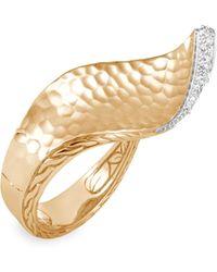John Hardy - 14k Gold Diamond Ring - Lyst