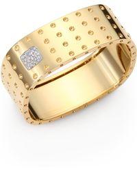 Roberto Coin - Pois Moi Diamond & 18k Yellow Gold Four-row Bangle Bracelet - Lyst
