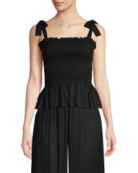 Cool Change - Holly Tie-strap Smocked Peplum Top - Lyst