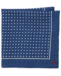 Isaia - Dotted Silk Pocket Square - Lyst