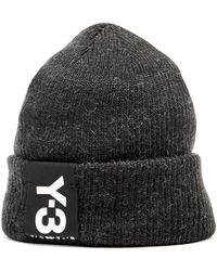 Y-3 - Badge Ribbed-knit Beanie - Lyst