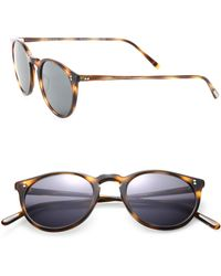 Oliver Peoples - The Row For Oliver Peoples O'malley Nyc 48mm Round Sunglasses - Lyst