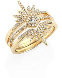 Ron Hami | Lovebolt Diamond & 18k Yellow Gold Burst Ring | Lyst