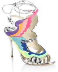 Sophia Webster   Firebird Multicolour & Metallic Leather Ankle-wrap Sandals   Lyst