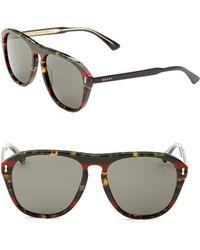84a263e005 Lyst - Gucci 53mm Square Sunglasses in Blue for Men