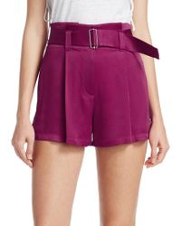 A.L.C. - Deliah Belted Shorts - Lyst