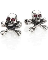King Baby Studio - Skull & Cross Bones Cuff Links - Lyst