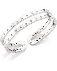 Roberto Coin - Symphony 18k White Gold Double Bangle - Lyst