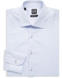 Ike Behar - Regular-fit Checkered Cotton Dress Shirt - Lyst