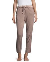 Natori - Ribbed Cashmere Jogger Trousers - Lyst