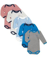 Petit Bateau - Baby's Five-piece Long-sleeve Bodysuit Set - Lyst