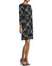 ESCADA - Long Sleeve Jacquard Dress - Lyst