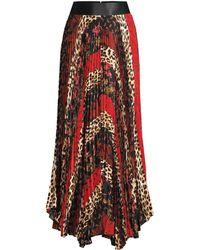 46c2869a626 Alice + Olivia - Women s Katz Sunburst Pleated Skirt - Boho Stripe Multi - Size  12