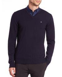 J.Lindeberg - Lymann V-neck Sweater - Lyst