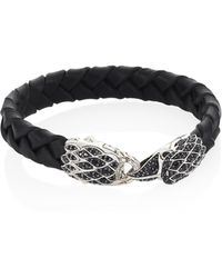 John Hardy - Leather & Sterling Silver Bracelet - Lyst