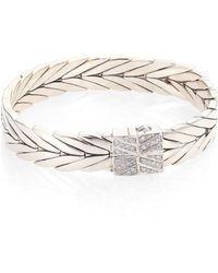 John Hardy - Modern Chain Diamond & Sterling Silver Small Bracelet - Lyst