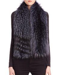 Saks Fifth Avenue - Fox Fur Scarf - Lyst