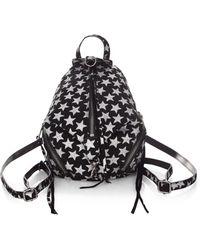 Rebecca Minkoff | Glitter Stars Convertible Mini Julian Suede Backpack | Lyst