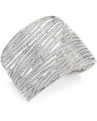 Adriana Orsini   Wisp Crystal Cuff Bracelet   Lyst