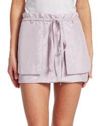 Valentino - Silk Taffeta Skirt - Lyst