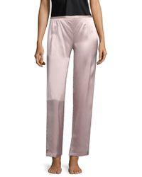 Natori - Silk Trousers - Lyst