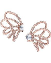 Alexis Bittar - Crystal Lace Orbiting Rose Goldtone Post Earrings - Lyst