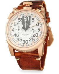 CT Scuderia - Touring Saturno Stainless Steel Leather Strap Analog Watch - Lyst