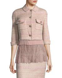 St. John - Guilded Knit Jacket - Lyst