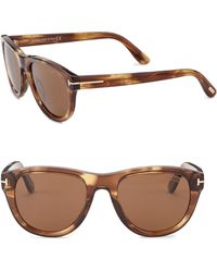 Tom Ford - Benedict 53 Mm Round Sunglasses - Lyst