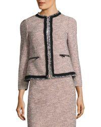 L.K.Bennett - Gee Tweed Jacket - Lyst
