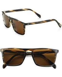 Oliver Peoples - Bernardo Square Sunglasses/cocobolo - Lyst