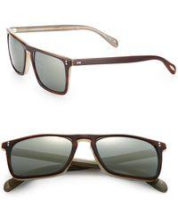 Oliver Peoples - Bernardo 47mm Square Sunglasses - Lyst