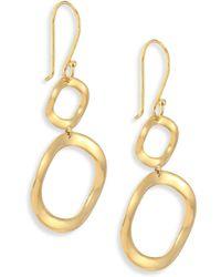 Ippolita - Sculptural Metal 18k Yellow Gold Mini Snowman Drop Earrings - Lyst