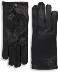 Burberry - Embossed Leather Gloves - Lyst