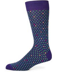 Saks Fifth Avenue - Dot Design Socks - Lyst