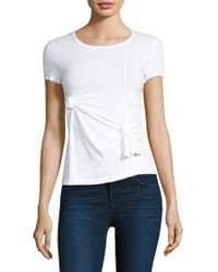 Helmut Lang - Knot Baby Tee - Lyst