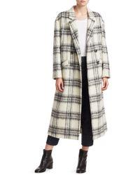 Cinq À Sept - Maya Plaid Wool-blend Boxy Coat - Lyst