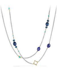 David Yurman - Bead & Chain Long Necklace - Lyst