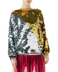 15e2c10ee7ce3b Gold-Sequin Tops - Women's Gold-Sequin Tops - Page 3 - Lyst